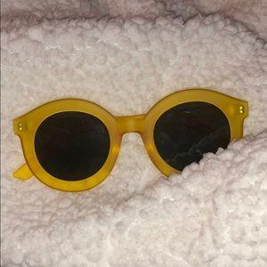 Yellow matte sunglasses